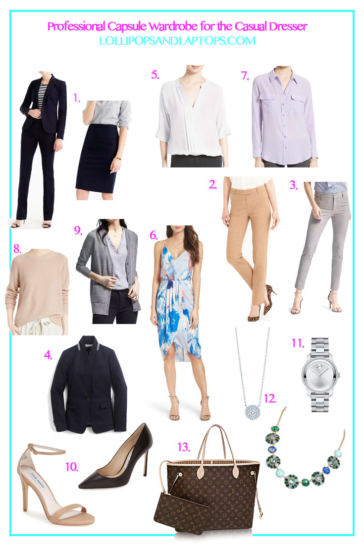 Professional Wardrobe for Casual Dresser - Lollipops & Laptops